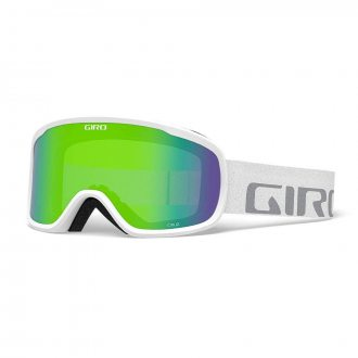 Gogle Giro Cruz White Wordmark S2  Green